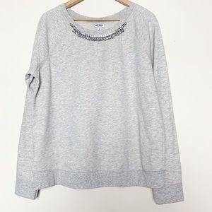 Old Navy Grey Rhinestone Embellished Sweatshirt